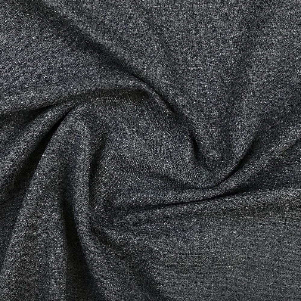 French Terry/Sommersweat, unangeraut, dunkelblau meliert, uni. Art. 8985/108