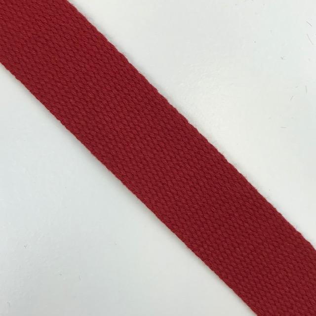 Baumwollgurtband  30 mm,  Union Knopf, rot. Art. SW11625