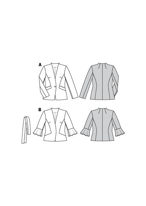 Gefütterte Jacke mit Taschenvariation #6100