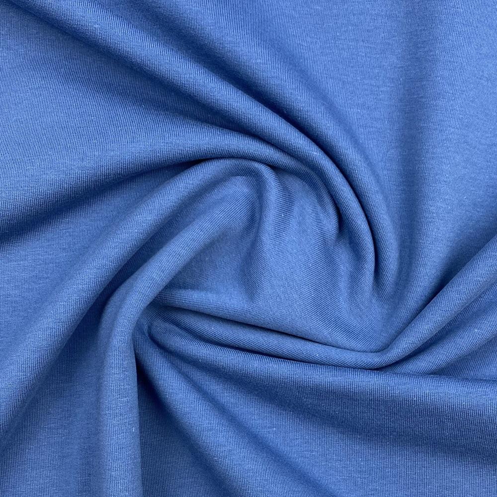 Soft French Terry/Sweatstoff angeraut , jeansblau, uni. Art. 4283/309