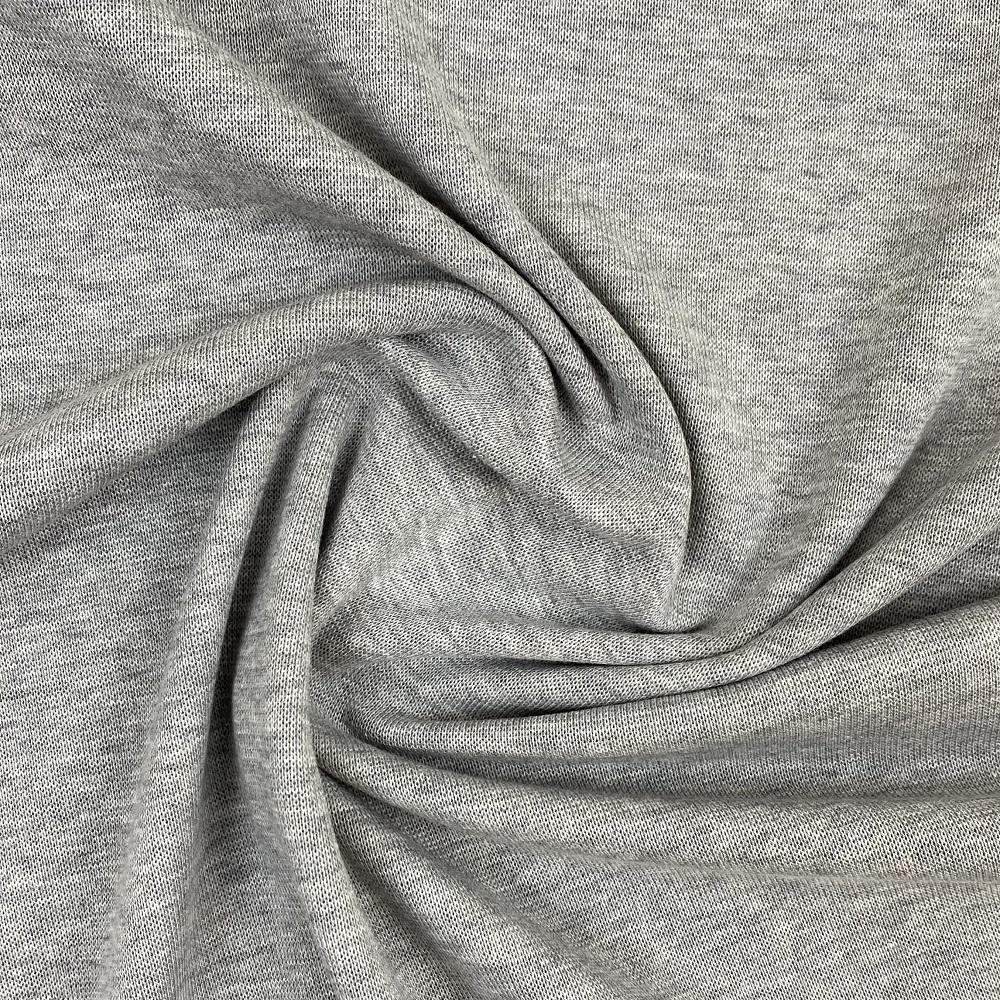 Feiner Baumwolle-Strickstoff, Design-Linie, grau meliert. Art. J-1228-820