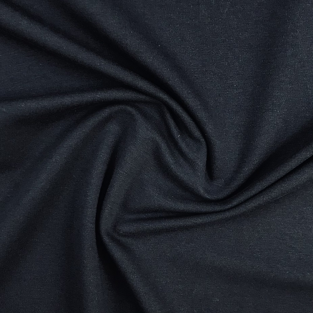 French Terry/Sommersweat, unangeraut, dunkelblau, uni. Art. 8985/8