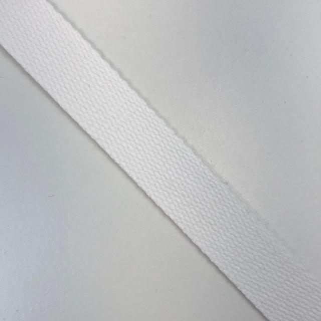 Baumwollgurtband  25 mm,  Union Knopf, weiß. Art. SW11622