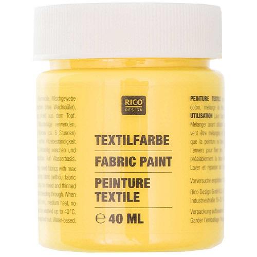 Textilfarbe, gelb, 40 ml, Rico Design. Art. 7014.501