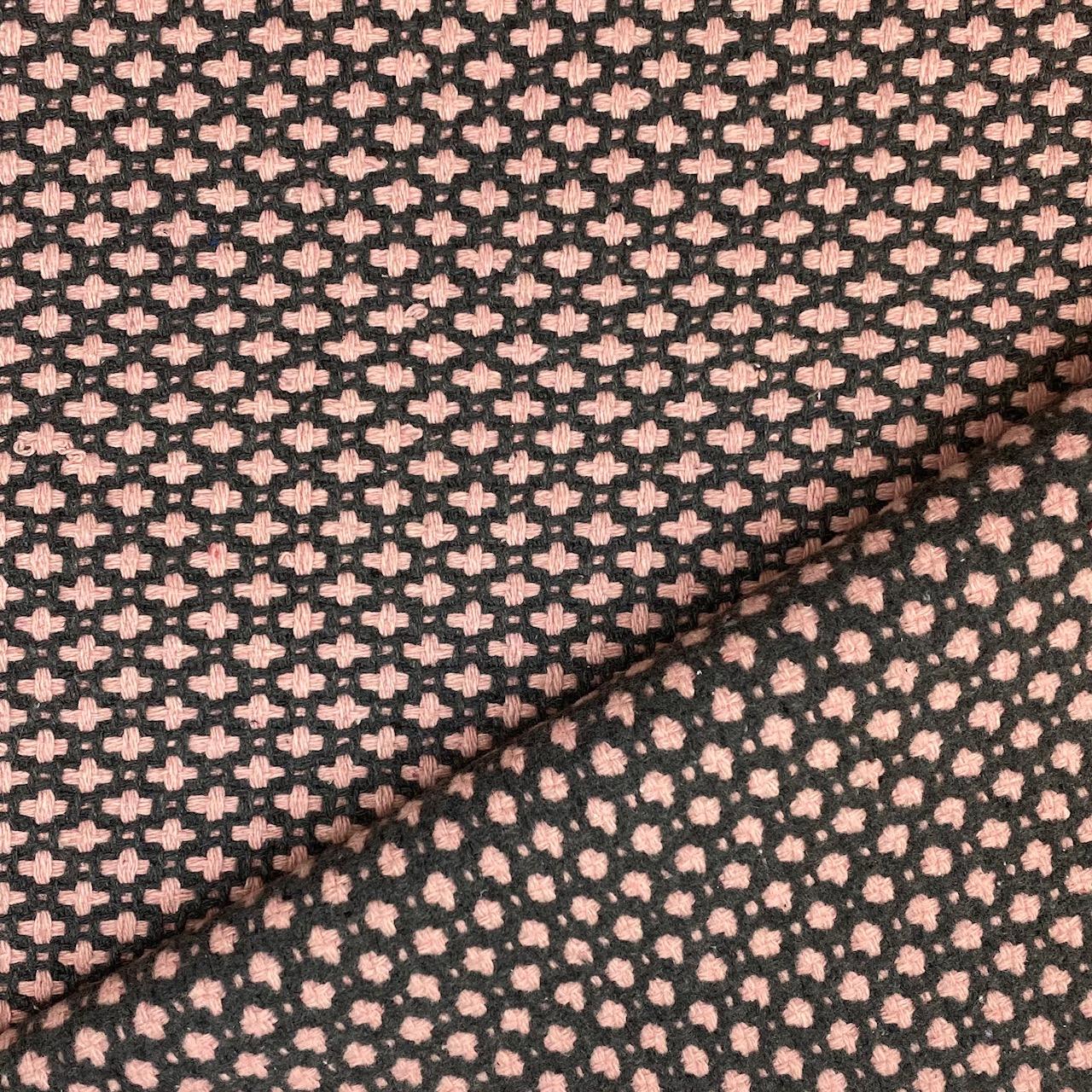 Mantelstoff Woll-Mix, altrosa/grau. Art. 486006