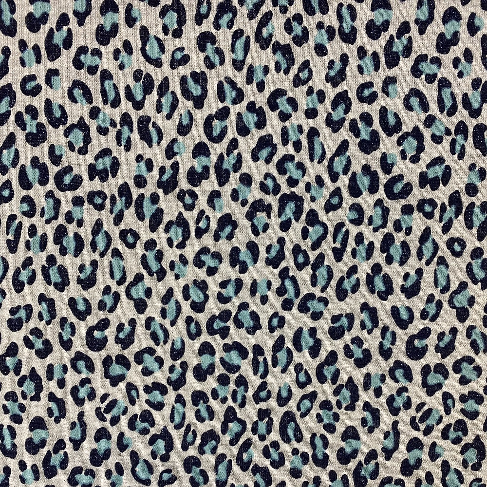 """French Terry """"Sparkling Print, Mint"""". Art.KC8222-023"""