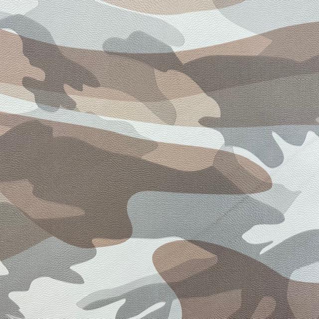 Lederimitat - Camouflage, braun. Art. 11089-055