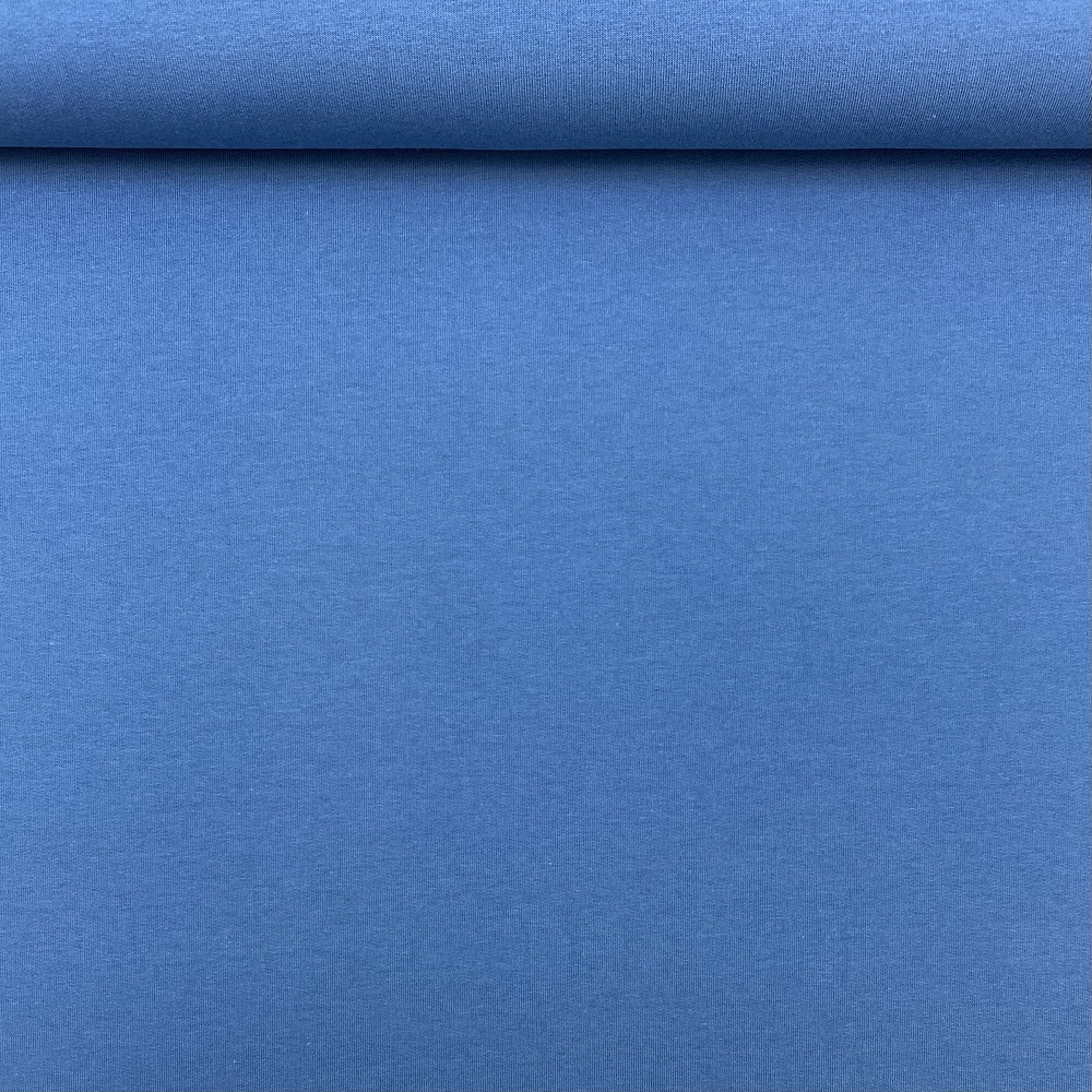 French Terry/Sommersweat, unangeraut, blau, uni. Art. 8985/309