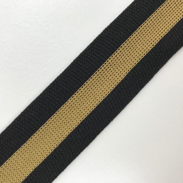 Galonband, Streifen, schwarz/braun. Art. SW11682