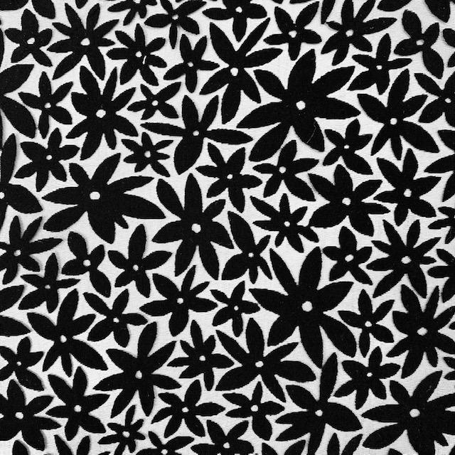 Viskosenstoff Ausbrenner, schwarz. Art. SW11461