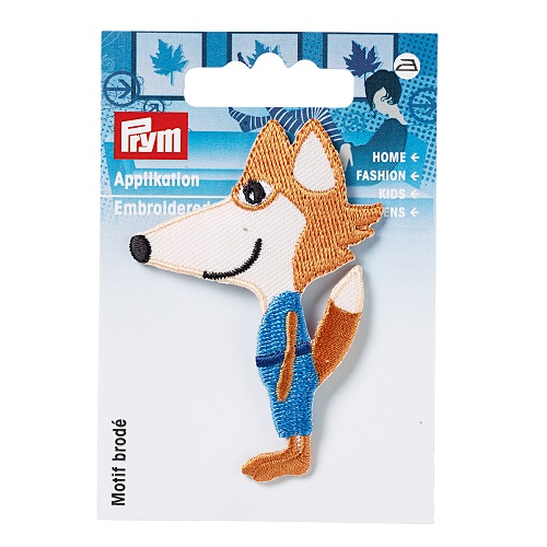 Applikation Exklusiv Fuchs, orange/blau.  Art. 924208
