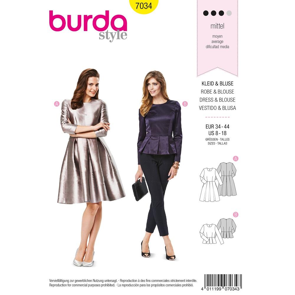 Kleid, Bluse mit Kellerfalte F/S 2013 #7034
