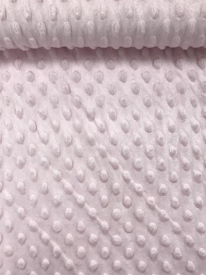 Fleece Minky Dots/Noppen, hellrosa. Art. 03347/011