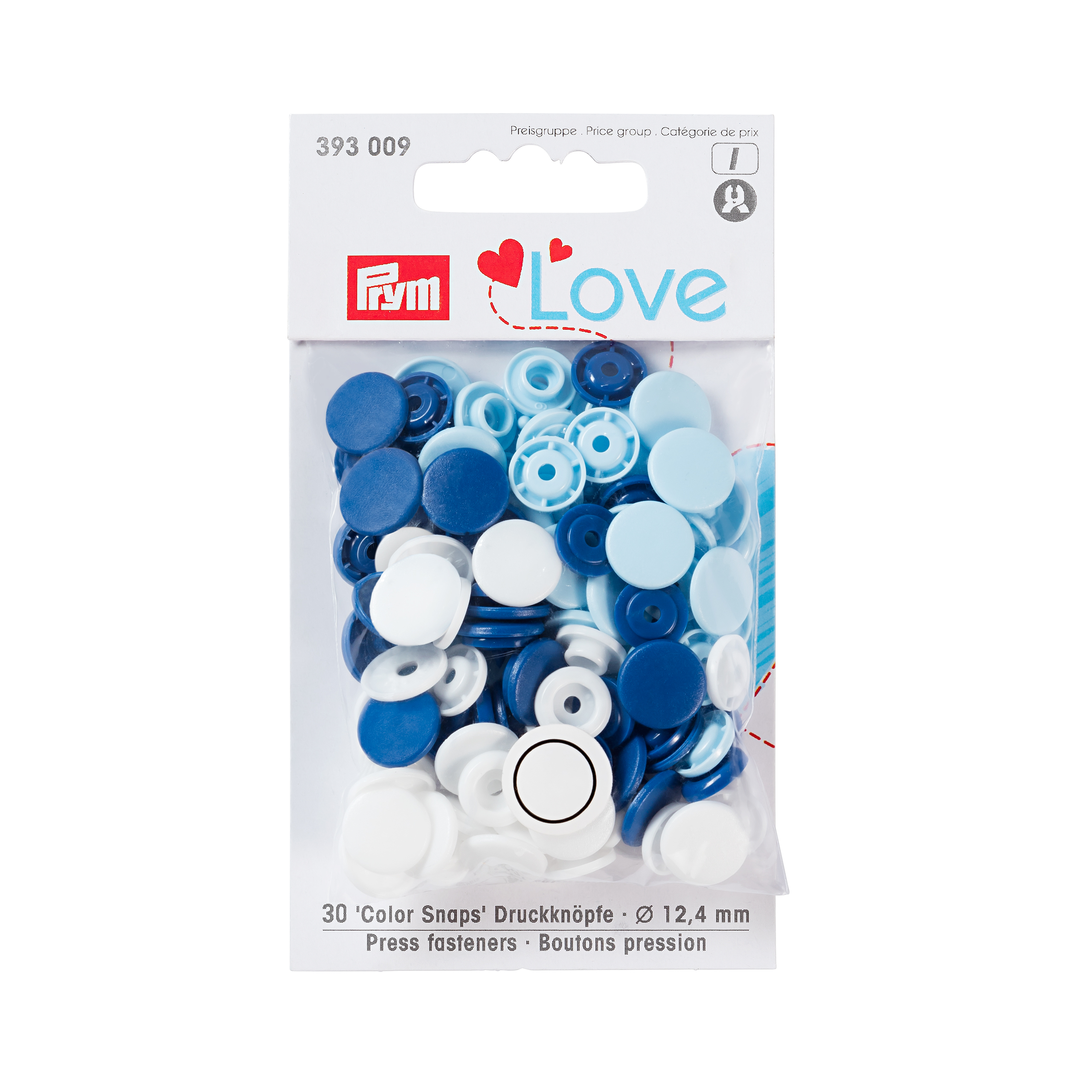 "Druckknopf Color Snaps, blau, ""Prym-Love"", Prym - Art. 393009"