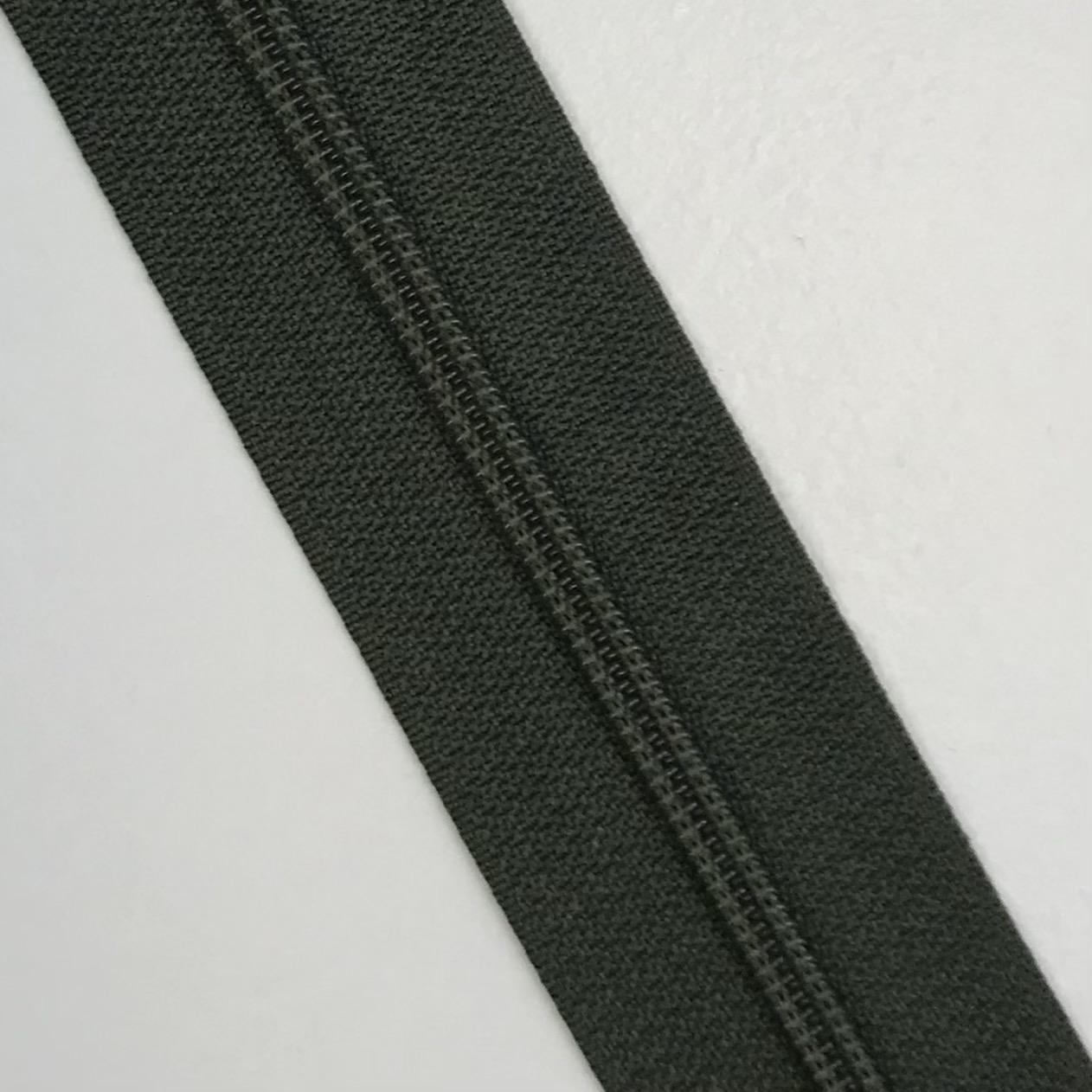 Endlosreißverschluss Meterware 3 mm, Union Knopf, olivgrün, Farbe 36. Art. 4511