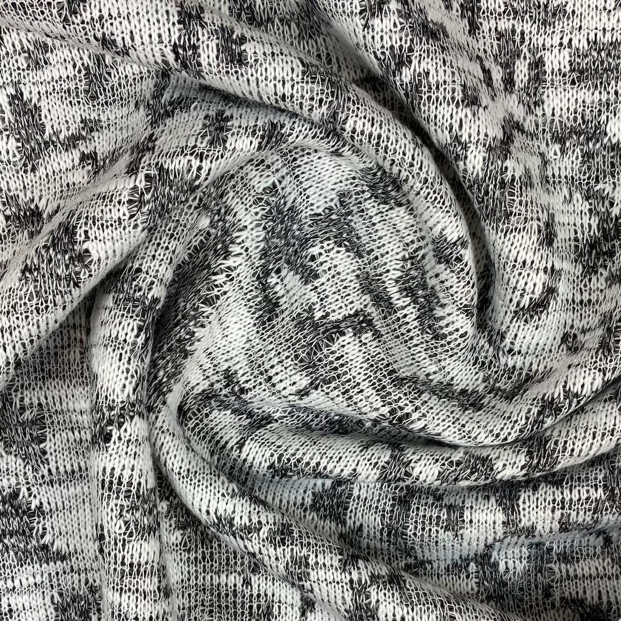 Jacquard Jersey, schwarz/grau. Art. Q11042-063