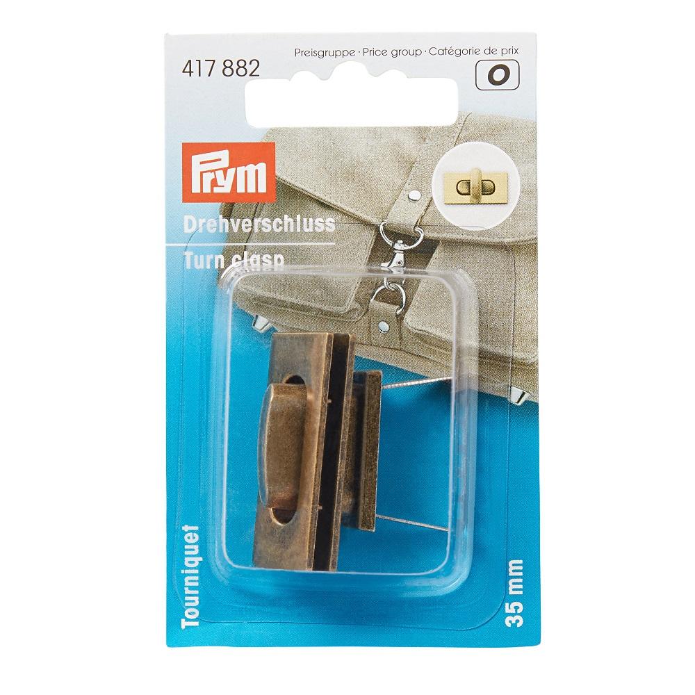 Drehverschluss für Taschen, altmessing, Prym - Art. 417882