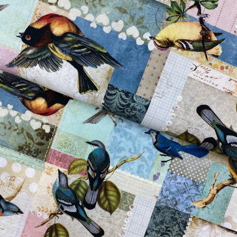 Dekostoff Canvas, Vögelchen. Art. SW11330