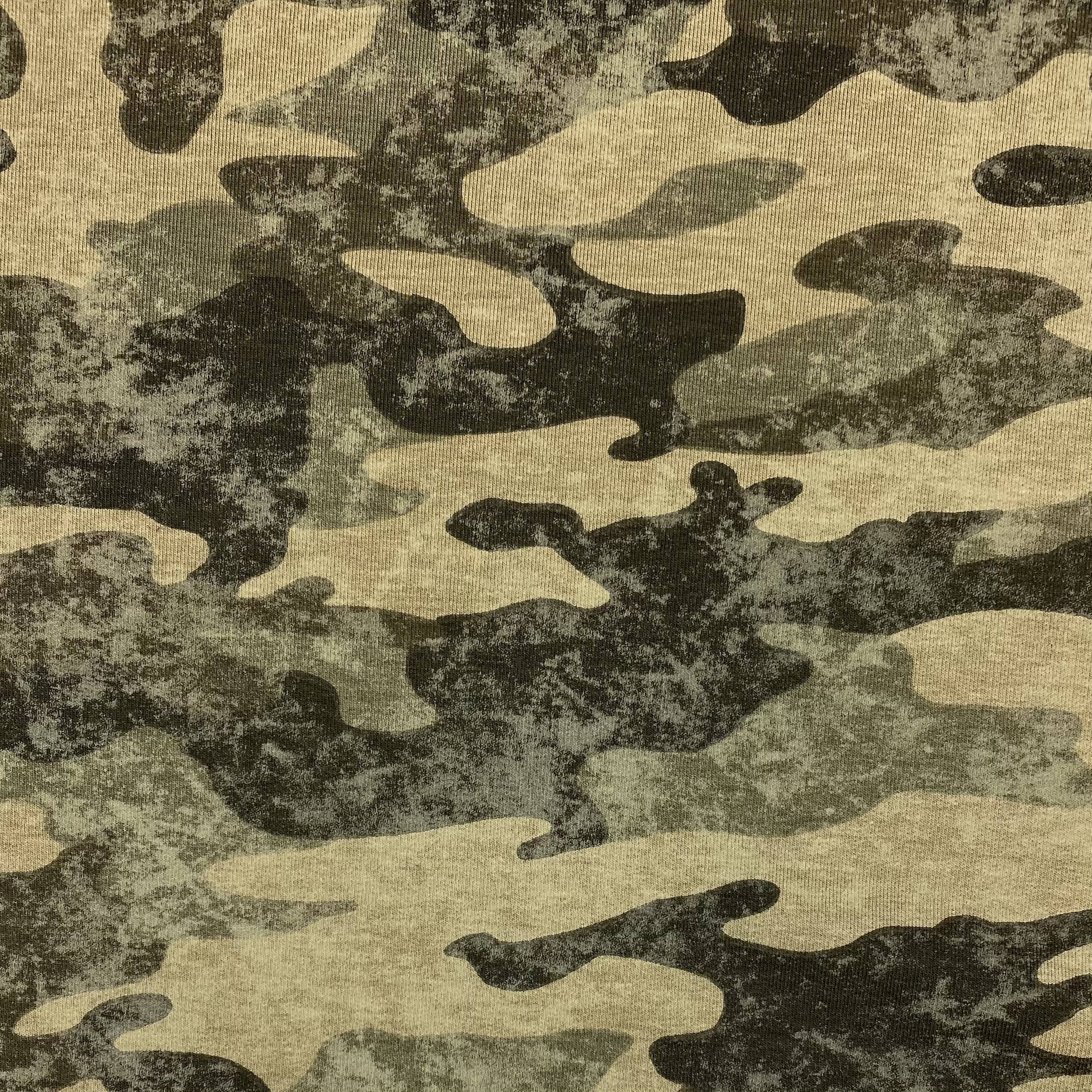 French Terry, Camouflage, dunkelgrün. Art. 10494/026.