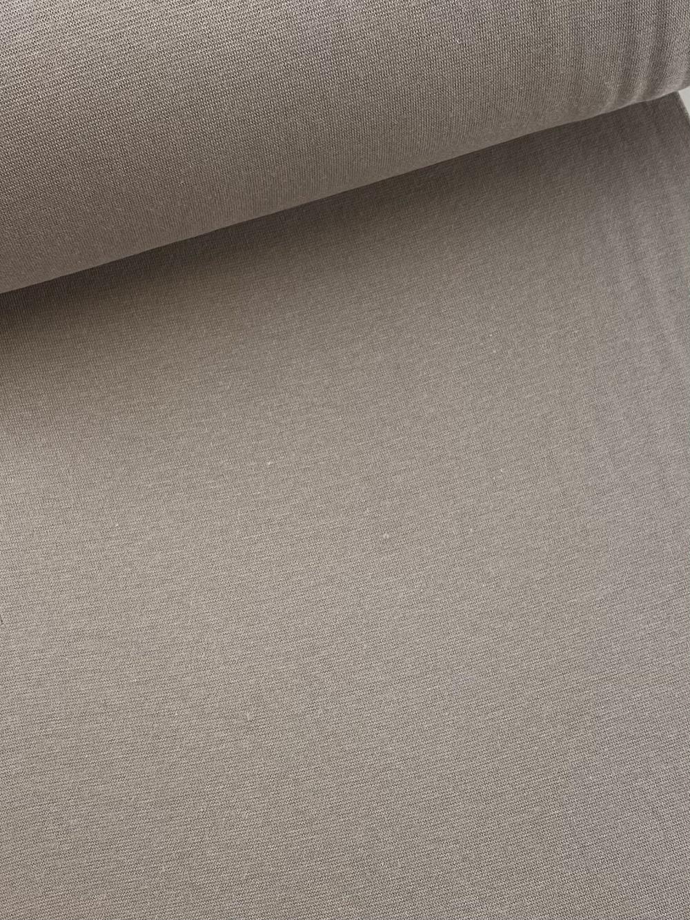 Bündchenware (glatt), dunkel beige. Art. SW10626