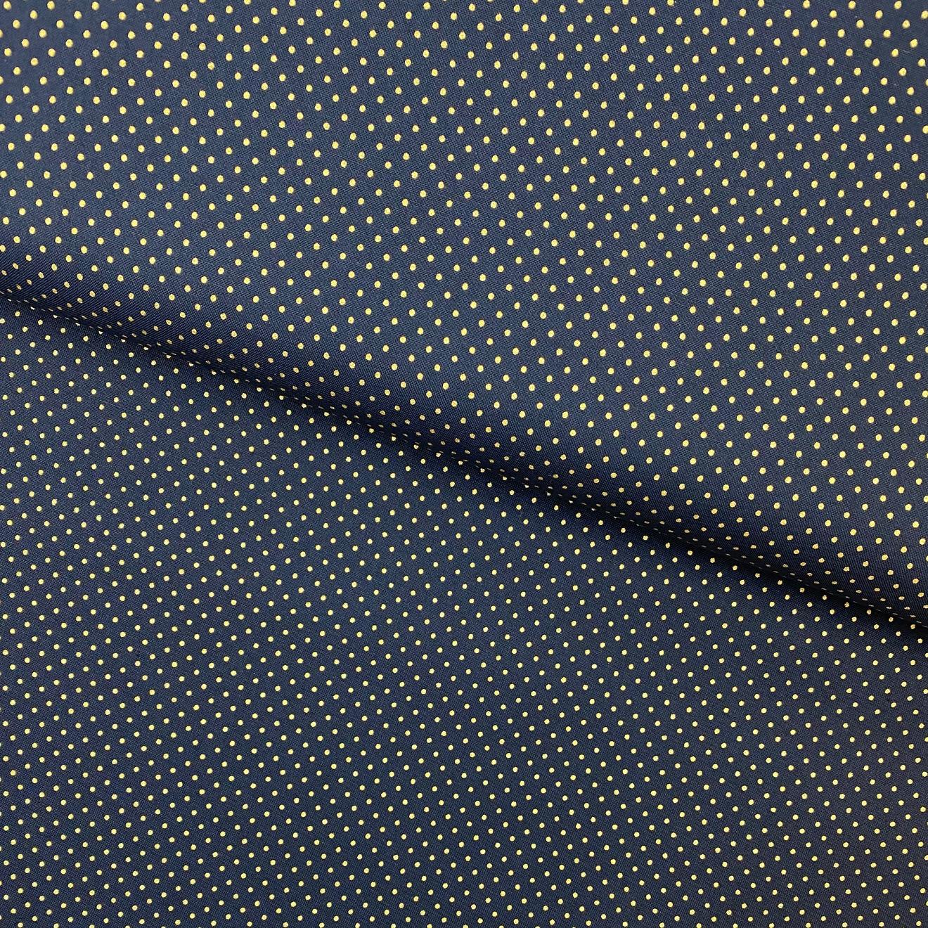 Baumwollpopeline, Punkte, dunkelblau. Art. SW11376