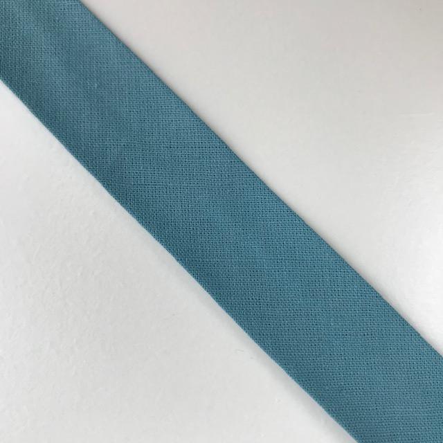 Baumwollpopeline - Schrägband, seegrün. Art. SW11649