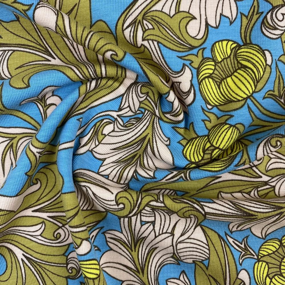 Baumwolljersey, Floral. Art. SW10211