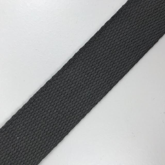 Baumwollgurtband  30 mm,  Union Knopf, grau. Art. SW11630