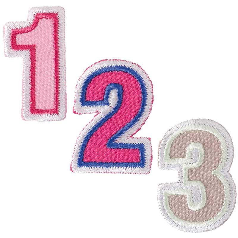 Patch Zahl zum aufbügeln, 3,2 cm, 4.  Art. 7094.56.31