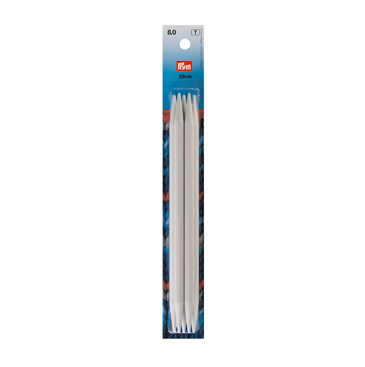 Strumpfstricknadeln, metall, 20 cm, 8,00 mm. Prym 218650