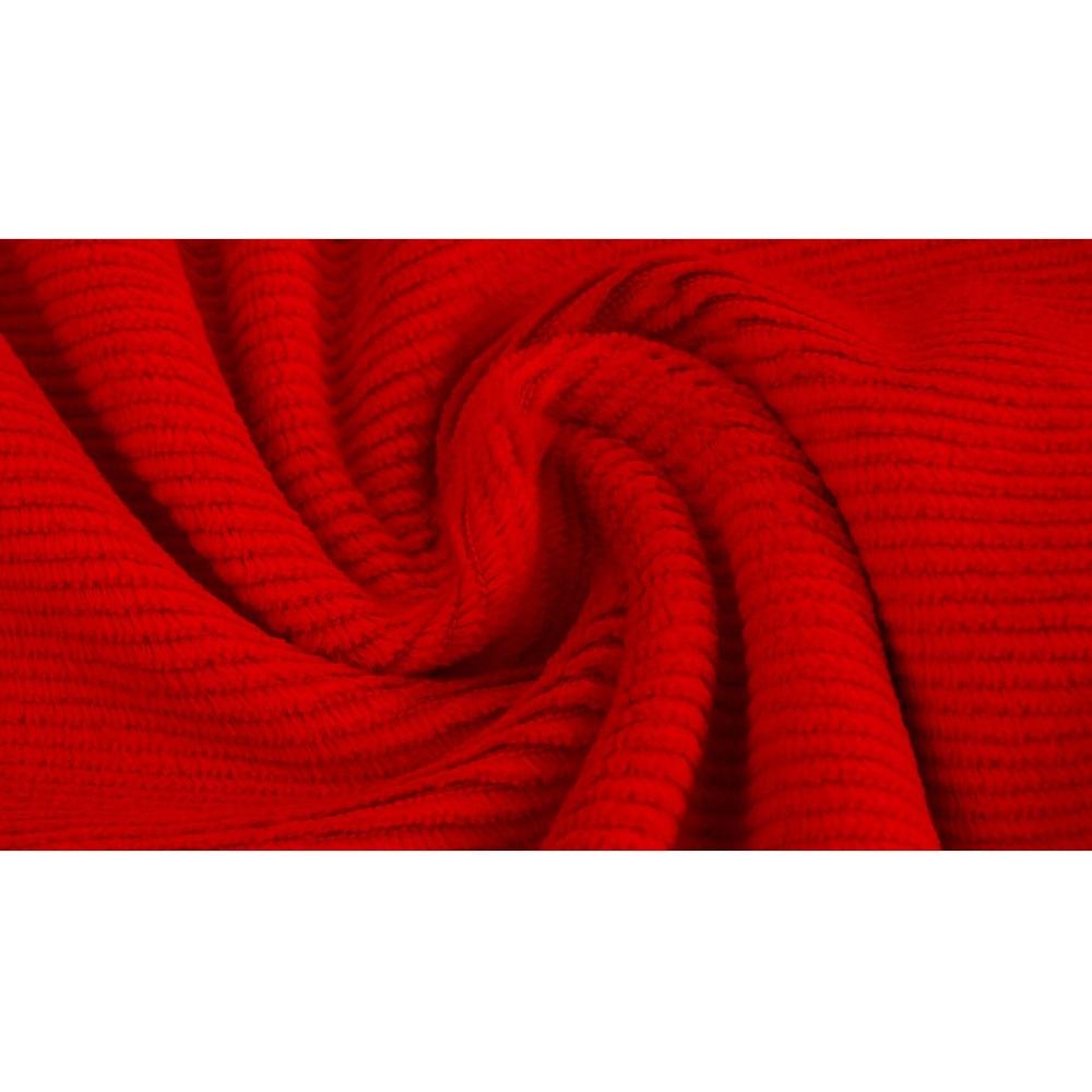 Gewaschener Baumwollcord, Cord-Jersey, rot. Art. 4527-1315