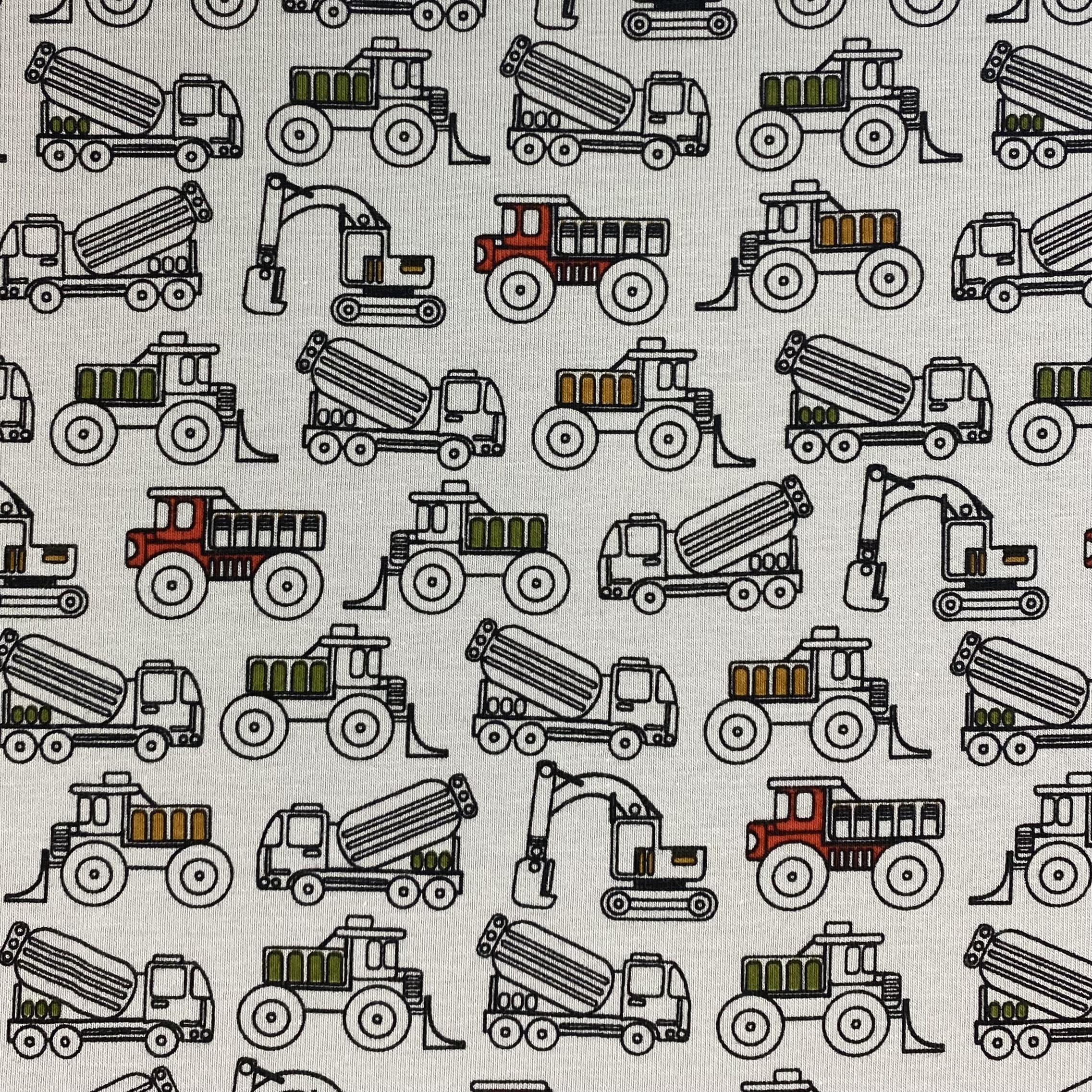 Baumwolljersey, Baufahrzeuge, Stenzo. Art. 10189