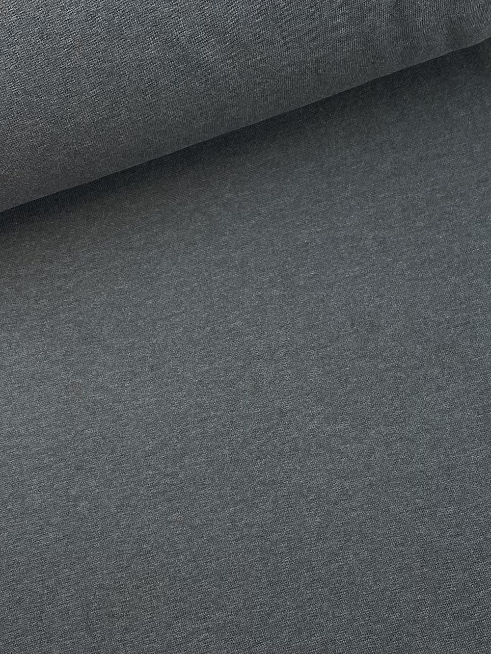 Bündchenware (glatt), dunkel grau. Art. SW10627
