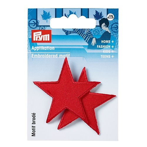 Applikation Sterne, rot. Art. 923152