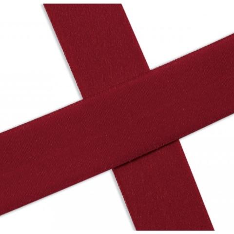 Elastisches Einfassband , matt - rot. Art.13-020-515