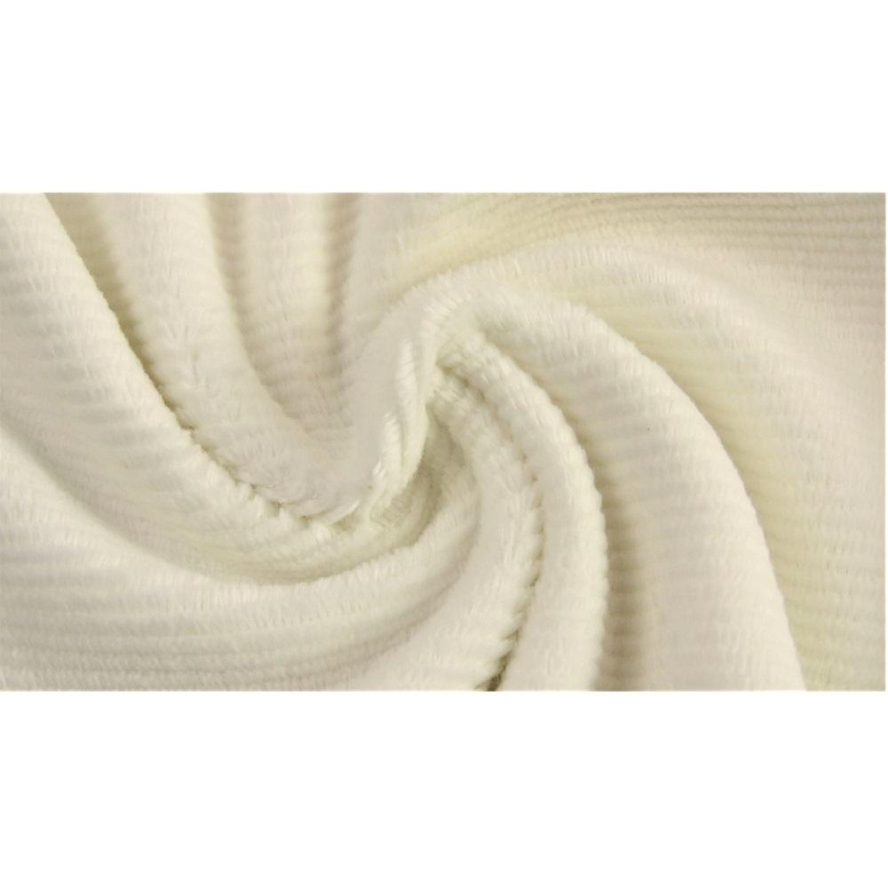 Gewaschener Baumwollcord, Cord-Jersey, wollweiß. Art. 4527-51