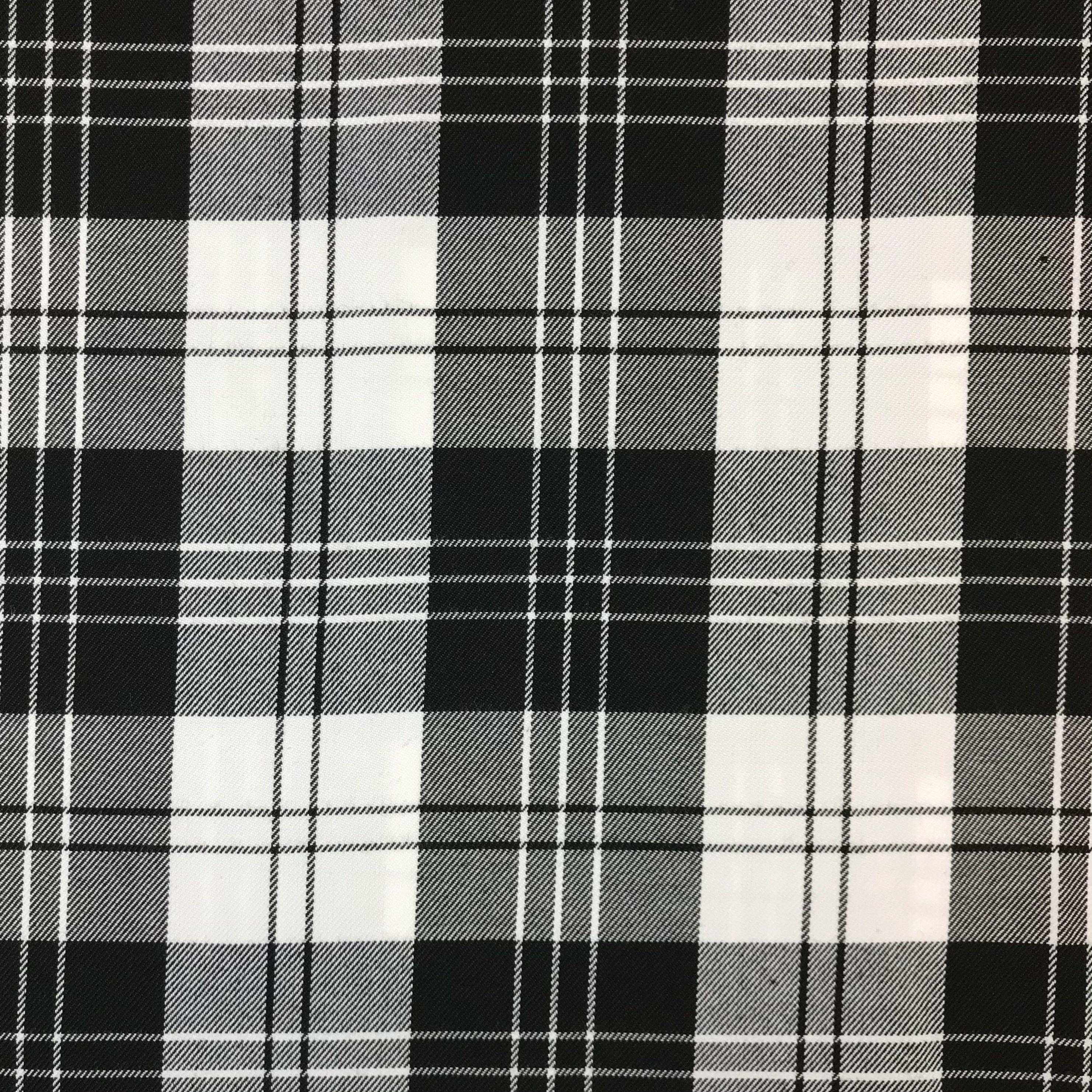 Hosen- & Anzugstoff Viskosenmix, Karos, schwarz/weiß. Art. 05191/004