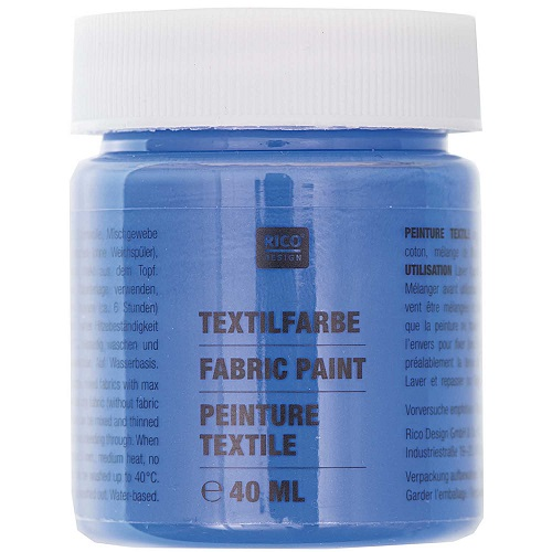 Textilfarbe, ultramarin, 40 ml, Rico Design. Art. 7014.510
