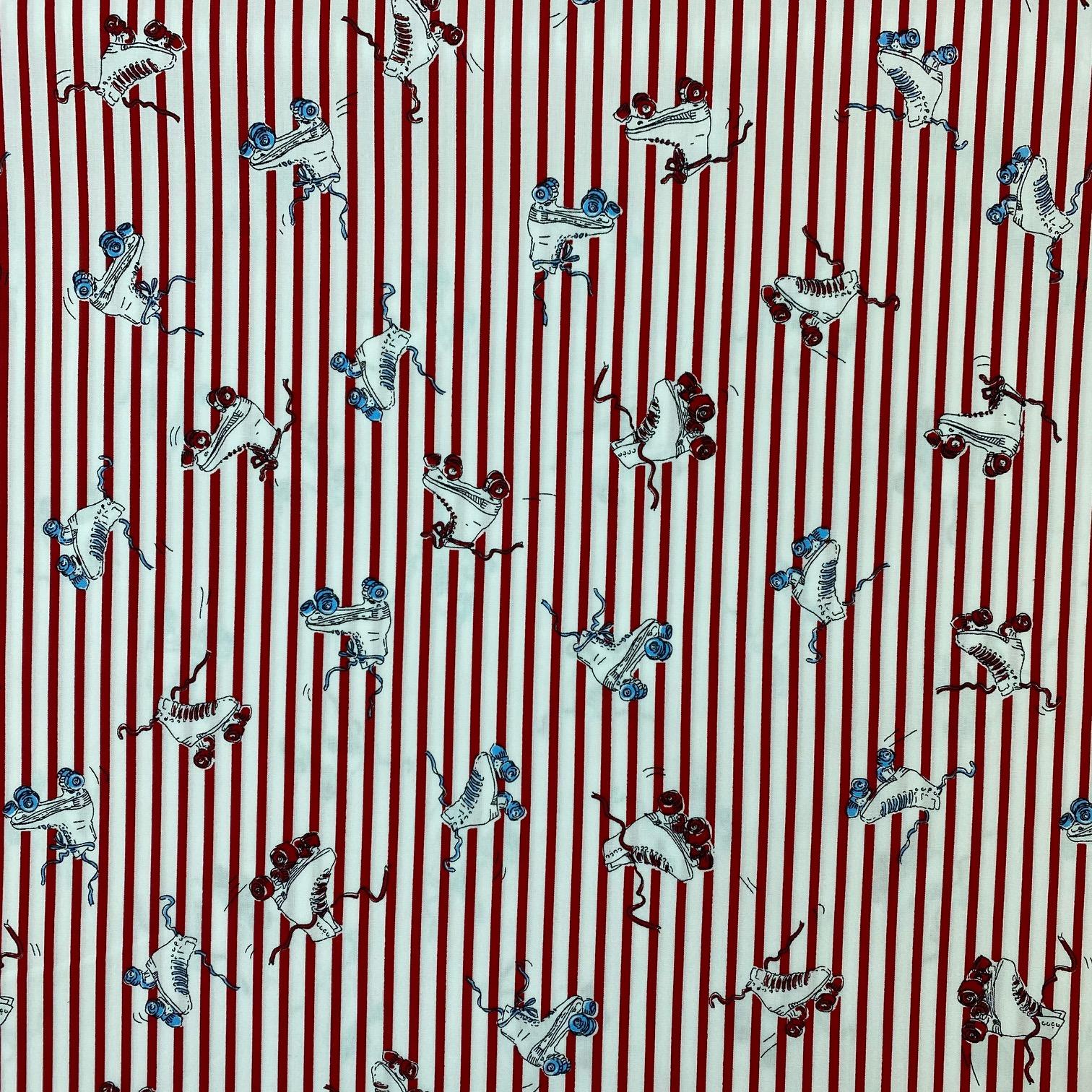 Baumwollpopelin, Streifen&Inlineskate. Art. SW11398