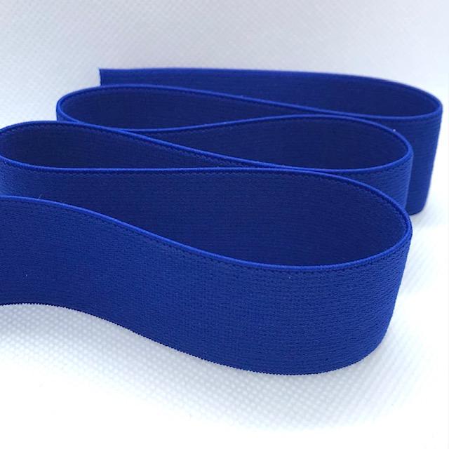 Gummiband, 3 cm, kobaltblau. Art. 030-507