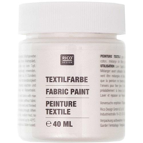Textilfarbe, perlmutt, 40 ml, Rico Design. Art. 7014.528