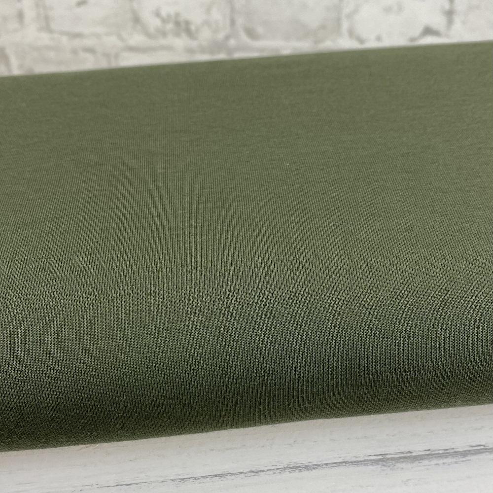 Baumwolljersey, uni, Armee grün. Art. 8973/28