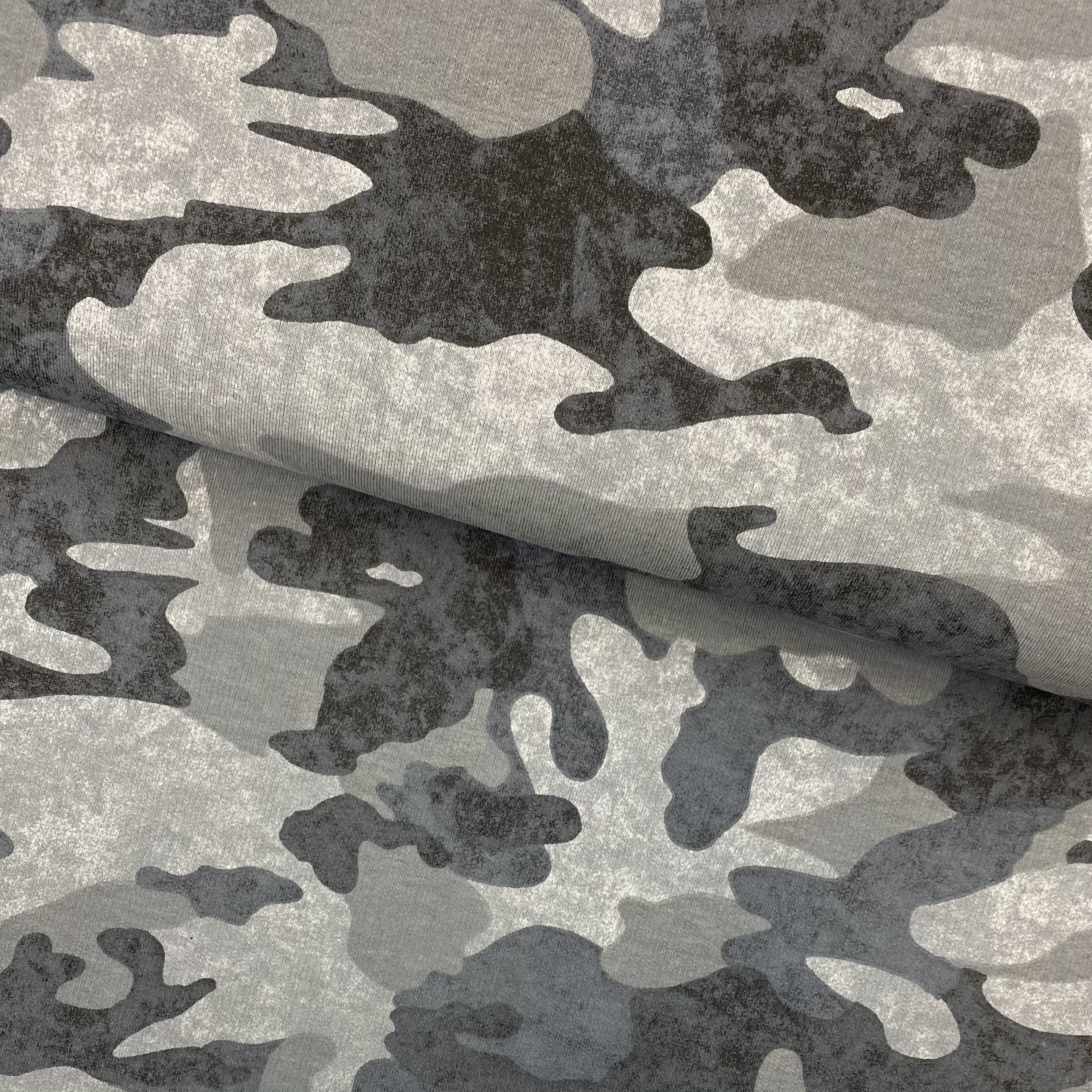French Terry, Camouflage, grau.  Art. 10494/068