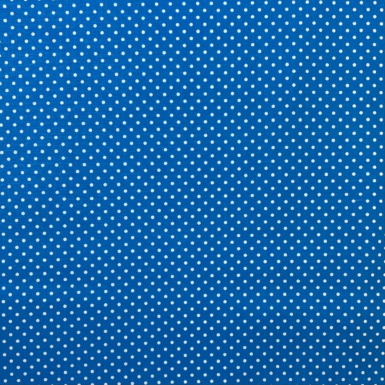 Baumwollpopeline, Punkte, türkis. Art. SW11369