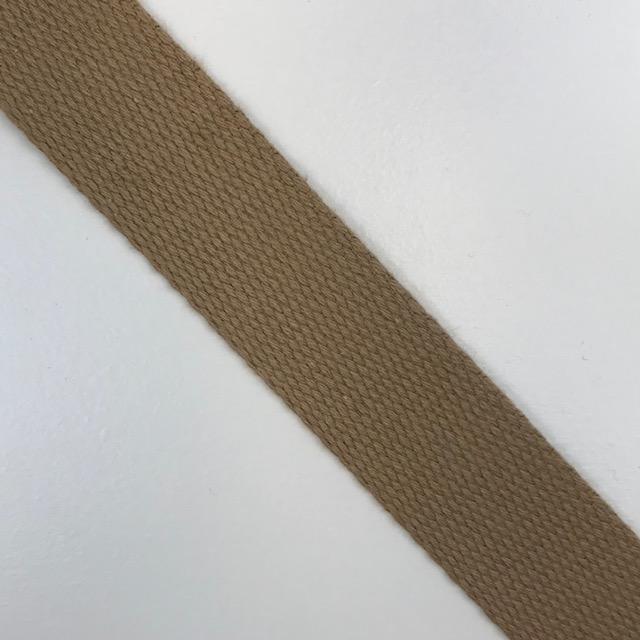 Baumwollgurtband  30 mm,  Union Knopf, beige. Art. SW11629