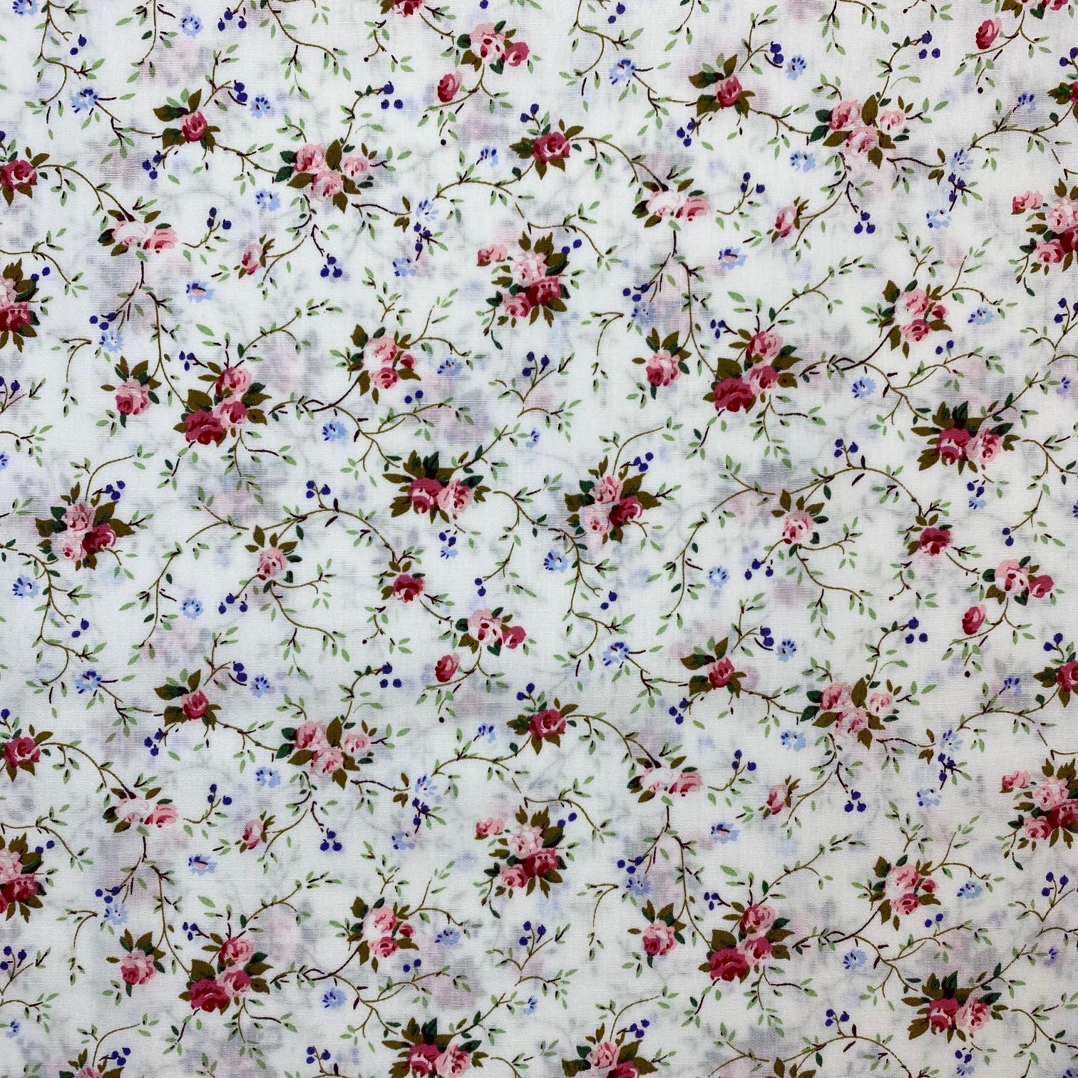 Baumwollpopelin, kleine Rosen. Art. SW11397