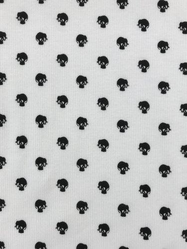 Rippenjersey,  kleine Elefanten, Digital Druck, Design-Linie. Art. J-0750-910