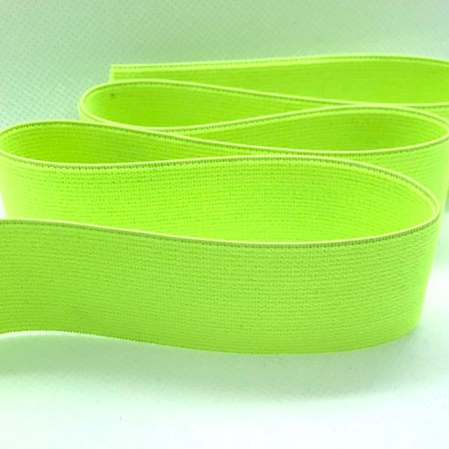 Gummiband, 3 cm, neon gelb. Art. 591-030