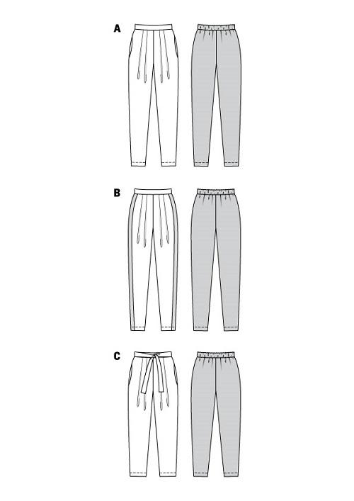 Bundfaltenhosen in verschiedenen Variationen #6110