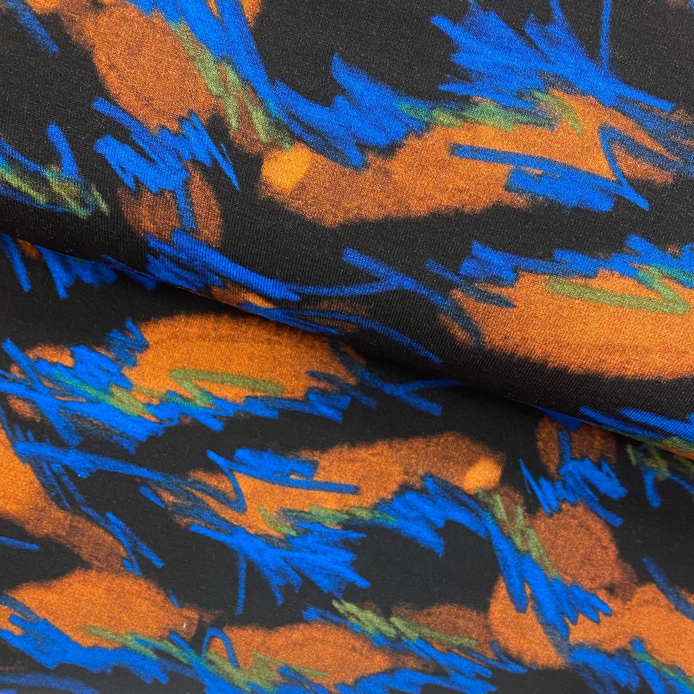 Schwerer Viskosenjersey von TopTex, Digital Druck, Fantasie.  Art. 4771-01